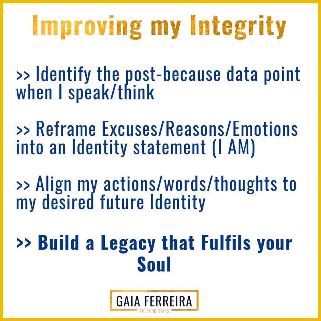 Improving my integrity